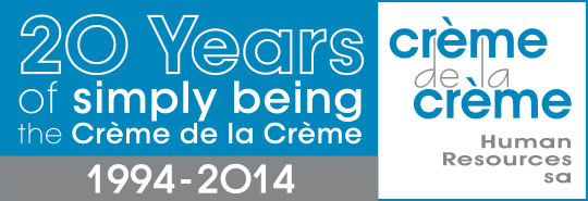 20 years Creme de la Creme Human Resources